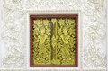 Traditional Thai Style Window With Art Decoration Stock Photos - 44617203