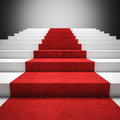 Red Carpet Stair Royalty Free Stock Photography - 44628337