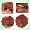 Set Of Watercolor Coffee Stains Collection Stock Images - 44629274