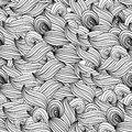 Seamless Wave Background Black And White Wave Patterns Seamlessl Stock Photos - 44629863