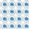 Vintage Shabby Chic Seamless Ornament Pattern Blue Flowers Leave Stock Image - 44629981
