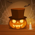 Pumpkin With Hat Royalty Free Stock Photo - 44630065