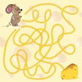 Cute Mouse S Maze Game Stock Photo - 44630470