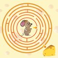 Cute Mouse S Maze Game Stock Images - 44630474