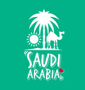 I Love Saudi Arabia In Green Color Stock Photography - 44630842