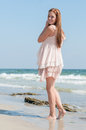 Girl On A Beach Royalty Free Stock Images - 44647569