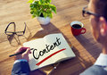 Businessman With Note About Content Concepts Royalty Free Stock Images - 44654659
