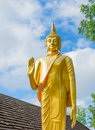 Gold Buddha Statue In Thai Temple, Thailand Royalty Free Stock Image - 44656926