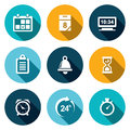 Clock And Time Icons Royalty Free Stock Photography - 44660947