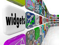 Widgets Applications Apps Software Programs Tile Icons Royalty Free Stock Photos - 44717098