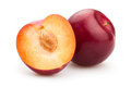 Red Plums Royalty Free Stock Photography - 44727627