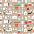 Seamless Pattern Of Medical And Health Vector Royalty Free Stock Photo - 44731355