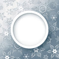 Winter Abstract Background Grey With Snowflakes Stock Photography - 44742332