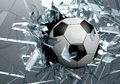 Broken Glass 3D Soccer Ball Royalty Free Stock Photo - 44744455