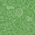 Seamless Pattern With School Things Stock Photos - 44759543