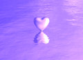 Purple Pink Heart On Water Reflection Royalty Free Stock Photos - 44766018