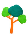 Plasticine Clay Tree Stock Photography - 44767522