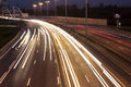 Highway With Car Light Trails Royalty Free Stock Photography - 44771167