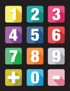 Number Flat Icon Sets Royalty Free Stock Photos - 44771938