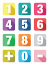 Number Flat Icon Sets Stock Photography - 44771962