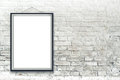 Blank Vertical Painting Poster In Black Frame Stock Photo - 44792310