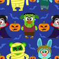 Seamless With Animal In Halloween Costume ,Halloween Background Stock Images - 44795754