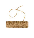 Spool Of Natural Twine Or Rope Isolated On White Stock Photo - 44796490