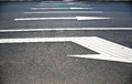 Road Markings-with Arrows. Royalty Free Stock Images - 44797239