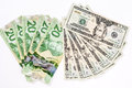 20 Dollar Bill US And Canadian Royalty Free Stock Photography - 44798617
