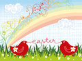 Easter Chicks Rainbow Swirls Royalty Free Stock Images - 4480049