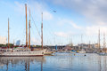Sailing Ships And Yachts Are In Port Of Barcelona, Spain Stock Photography - 44802352