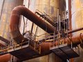 Rusty Pipes In Industrial Factory Stock Photography - 44812492