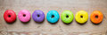 Row Of Colorful Donuts Stock Photo - 44813290