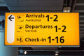 Airport Sign Stock Photography - 44816122