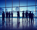 Silhouettes Of Business People In An Office Building Royalty Free Stock Photo - 44820875