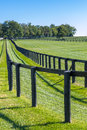 Double Fence At Horse Farm. Stock Images - 44821004