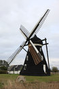 Swedish Tower Mill In Skegrie Stock Photography - 44828242