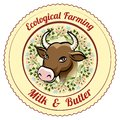 Ecological Farming Milk And Butter Label Stock Photography - 44830472