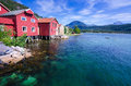 Beautiful Norwegian Landscape In Summer Season Royalty Free Stock Photo - 44837845