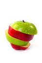 Red And Green Sliced Apple Stock Photos - 44838953