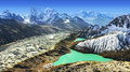 Beautiful View From Gokyo Ri, Everest Region, Nepal Stock Image - 44843581