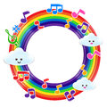 Rainbow Music 002 Royalty Free Stock Photo - 44845215