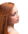 Profile Of A Young Red-haired Girl Stock Images - 44846974