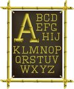 Bamboo Frame With Canvas And Alphabet Stock Images - 44857614