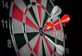 Dart Hitting A Target Royalty Free Stock Photos - 44864838