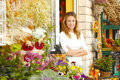 Small Flower Shop Owner Stock Photography - 44866942