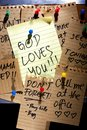 Message Or Reminder Board With God Loves You Note Royalty Free Stock Images - 44869909