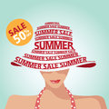 Sale And Fashion And Summer Royalty Free Stock Photography - 44878857