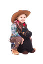 Smiling Little Cowboy Royalty Free Stock Photo - 44880485