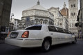 Limo And Cathedral Duomo Florence Stock Image - 44887211